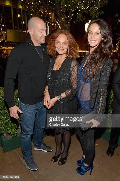 """Alexander von Furstenberg, designer Diane von Furstenberg and Ali Kay attend """"House of DVF"""" Season Finale with Diane von Furstenberg at The Grove on..."""