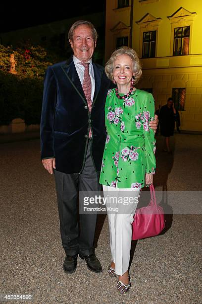Alexander von Hardenberg and Isa von Hardenberg attends the Thurn Taxis Castle Festival 2014 Rigoletto on July 18 2014 in Regensburg Germany