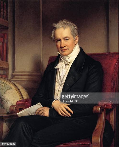 Alexander von Humboldt *17691859 German naturalist and geographer Portrait Painting by Joseph Stieler c1843