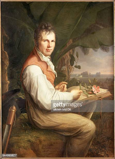 Alexander von Humboldt *17691859 German naturalist and geographer Portrait Painting by Friedrich Georg Weitsch c1806