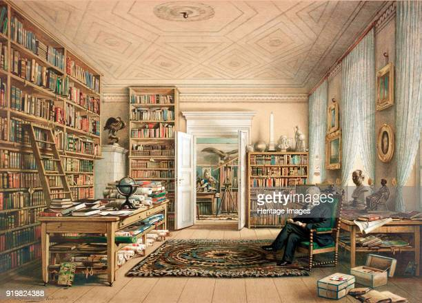 Alexander von Humboldt at his Library 1856 Private Collection