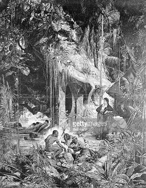 Alexander von Humboldt camped beside the Orinoco River After a painting by Ferdinand Keller 1877
