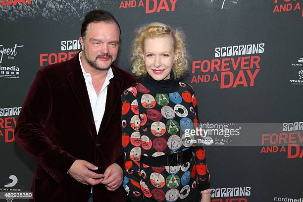 Alexander von Schaumburg Lippe and Sunnyi Melles attend the premiere of 'Forever and A Day' at Kulturbrauerei on February 7 2015 in Berlin Germany