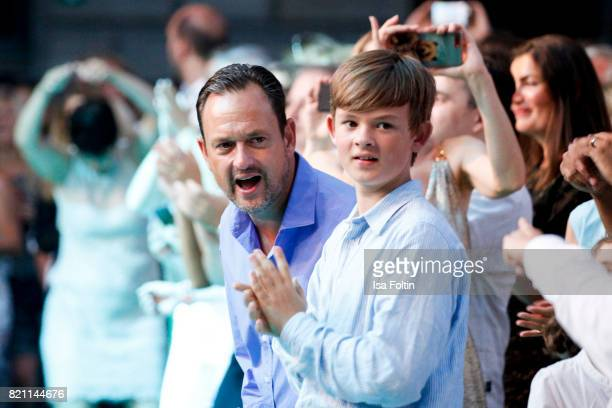 Alexander von SchoenburgGlauchau and Benedikt von SchoenburgGlauchau during the Sting concert at the Thurn Taxis Castle Festival 2017 on July 22 2017...
