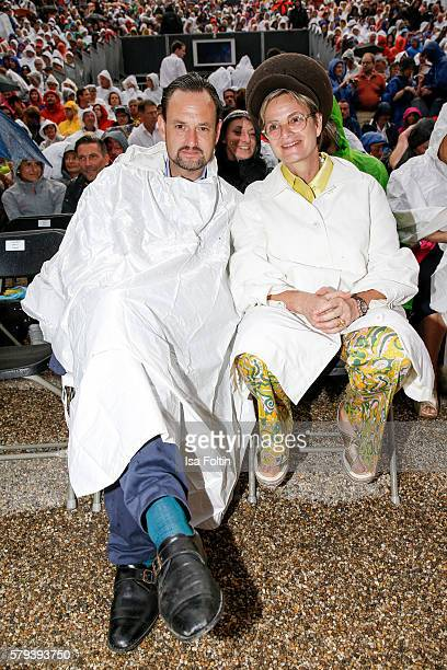 Alexander von SchoenburgGlauchau and his sister Gloria von Thurn und Taxis attend the Scorpions Concert during the Thurn Taxis Castle Festival 2016...