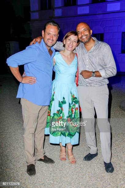 Alexander von SchoenburgGlauchau with Olivier Audemars and his wife Donata Audemars during the Sting concert at the Thurn Taxis Castle Festival 2017...