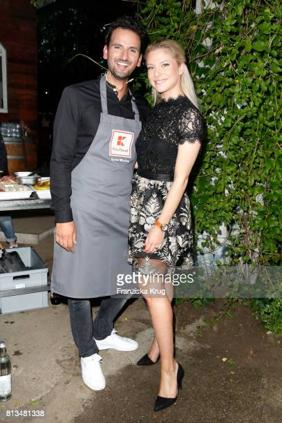 Alexander Wahi and Valentina Pahde attend the Kaufland Hosts VIP BBQ at OberhafenKantine on July 12 2017 in Berlin Germany