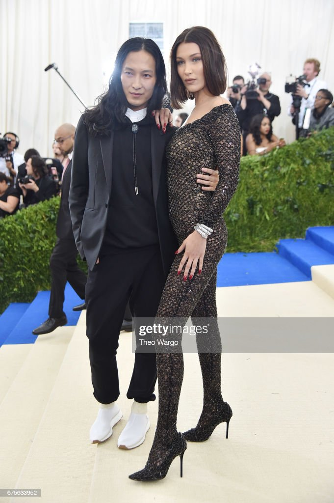 Alexander Wang and Bella Hadid attend the 'Rei Kawakubo/Comme des Garcons: Art Of The In-Between' Costume Institute Gala at Metropolitan Museum of Art on May 1, 2017 in New York City.