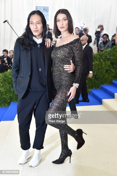 Alexander Wang and Bella Hadid attend the 'Rei Kawakubo/Comme des Garcons Art Of The InBetween' Costume Institute Gala at Metropolitan Museum of Art...