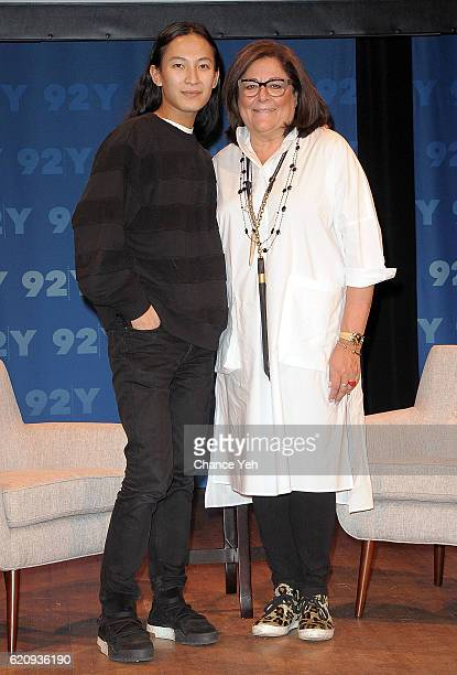 Alexander Wang and Fern Mallis attend Fashion Icons with Fern Mallis Alexander Wang at 92nd Street Y on November 3 2016 in New York City