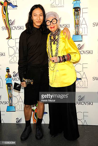 Alexander Wang and Iris Apfel attends the 2011 CFDA Fashion Awards at Alice Tully Hall Lincoln Center on June 6 2011 in New York City