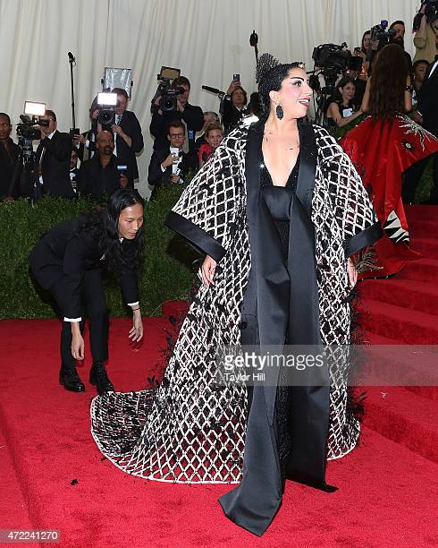 "Alexander Wang and Lady Gaga attend ""China: Through the Looking Glass"", the 2015 Costume Institute Gala, at Metropolitan Museum of Art on May 4, 2015..."