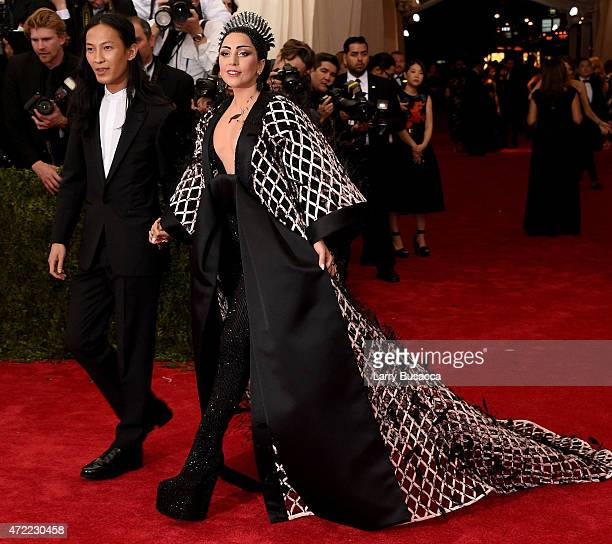 Alexander Wang and Lady Gaga attend the China Through The Looking Glass Costume Institute Benefit Gala at the Metropolitan Museum of Art on May 4...