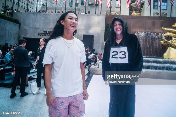 Alexander Wang and Pete Davidaon attend the Alexander Wang Collection 1 fashion show at Rockefeller Center on May 31 2019 in New York City