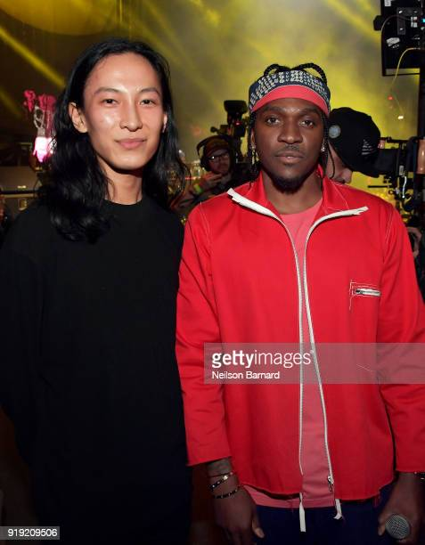 Alexander Wang and Pusha T during adidas Creates 747 Warehouse St an event in basketball culture on February 16 2018 in Los Angeles California