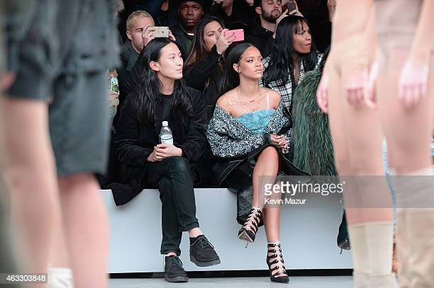 5c6fcbe807 Alexander Wang and Rihanna attend the adidas Originals x Kanye West YEEZY  SEASON 1 fashion show