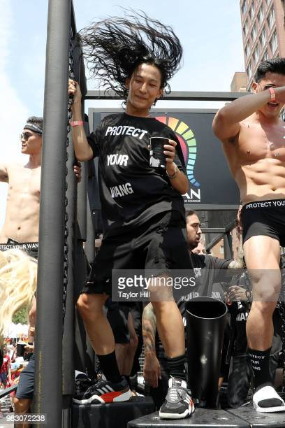 Alexander Wang attends the 2018 NYC Pride March on June 24 2018 in New York City
