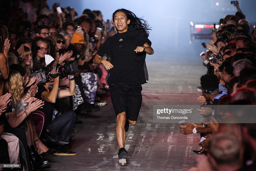 Alexander Wang greets the audience after presenting his Spring 2017 collection at The Arc, Skylight at Moynihan Station during New York Fashion Week on September 10, 2016 in New York City.