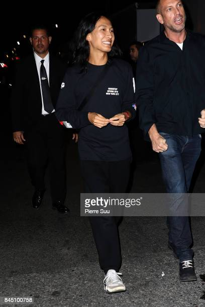Alexander Wang is seen leaving the Alexander Wang show during NYFW on September 9 2017 in New York City