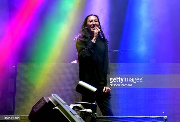 Alexander Wang speaks onstage during adidas Creates 747 Warehouse St an event in basketball culture on February 16 2018 in Los Angeles California