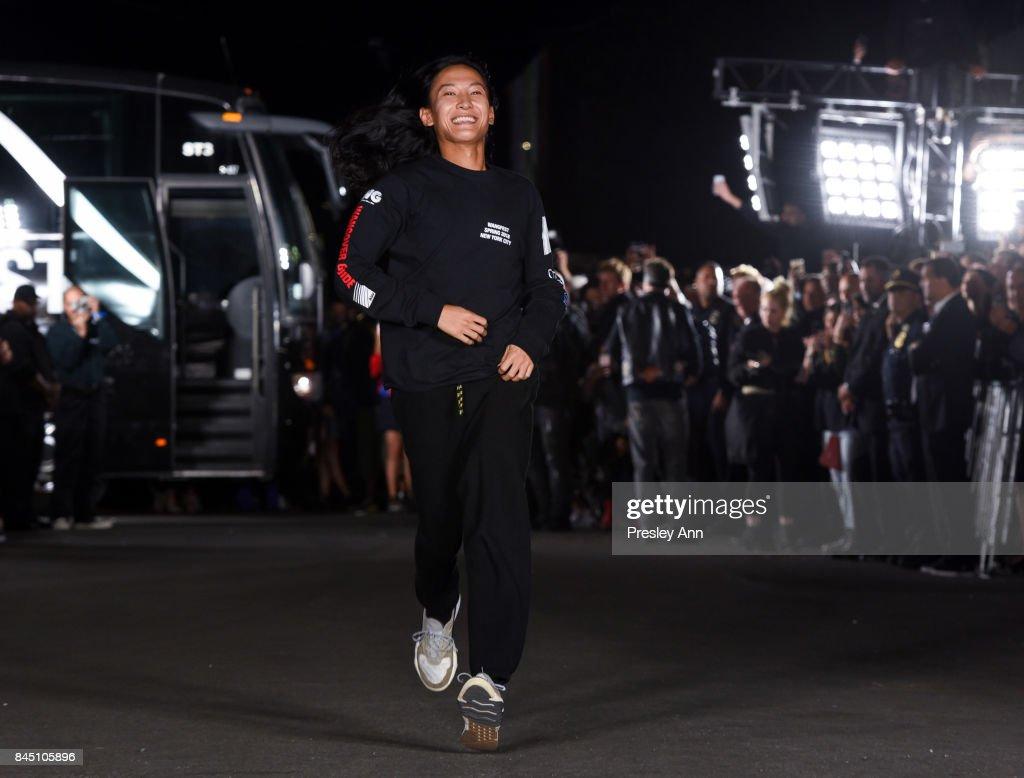 Alexander Wang walks the runway at Alexander Wang fashion show during New York Fashion Week on September 9, 2017 in the Brooklyn borough of New York City City.