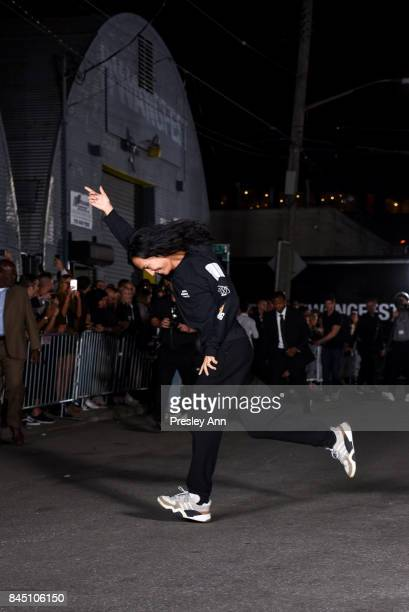 Alexander Wang walks the runway at Alexander Wang fashion show during New York Fashion Week on September 9 2017 in the Brooklyn borough of New York...