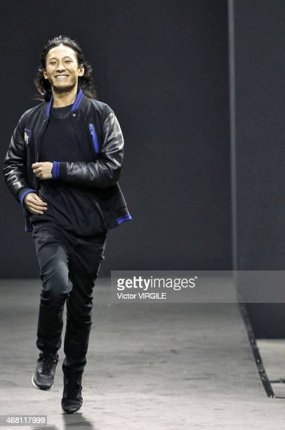 Alexander Wang walks the runway at the Alexander Wang Ready to Wear Fall/Winter 20142015 fashion show during MercedesBenz Fashion Week on February 8...