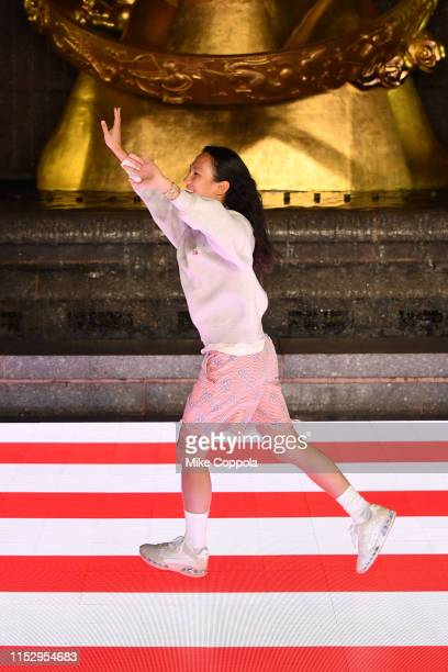 Alexander Wang walks the runway during the Alexander Wang Collection 1 fashion show at Rockefeller Center on May 31 2019 in New York City