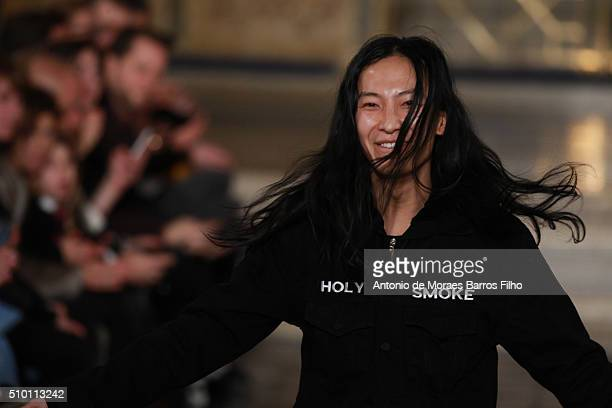 Alexander Wang walks the runway during the Alexander Wang show as a part of Fall 2016 New York Fashion Week at St Bartholomew's Church on February 13...