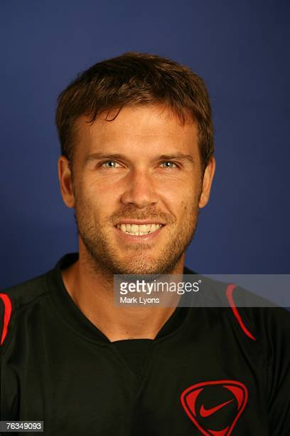 Alexander Waske poses for his 2007 ATP Portrait on August 10 2007 at the Lindner Family Tennis Center in Cincinnati Ohio