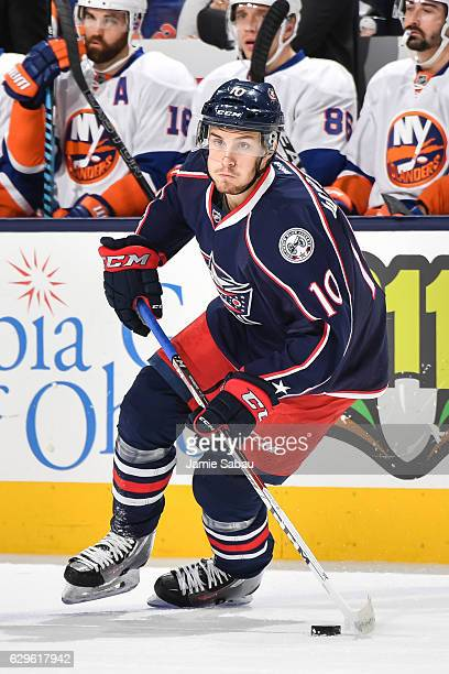 Alexander Wennberg of the Columbus Blue Jackets skates against the New York Islanders on December 10 2016 at Nationwide Arena in Columbus Ohio