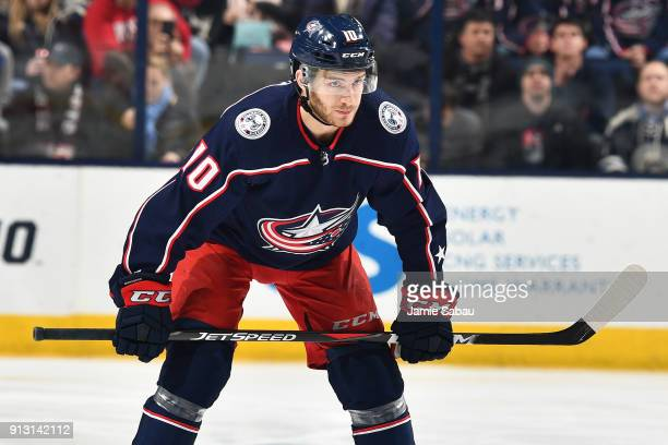 Alexander Wennberg of the Columbus Blue Jackets skates against the Minnesota Wild on January 30 2018 at Nationwide Arena in Columbus Ohio