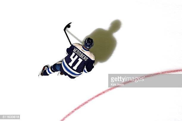 Alexander Wennberg of the Columbus Blue Jackets warms up prior to the start of the game against the Buffalo Sabres on February 19 2016 at Nationwide...