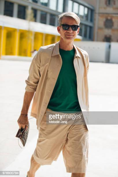 Alexander Werz after Neil Barrett during Milan Men's Fashion Week Spring/Summer 2019 on June 16 2018 in Milan Italy