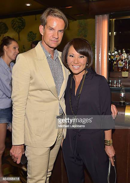 Alexander Werz and Alina Cho attend the New York Times Vanessa Friedman and Alexandra Jacobs welcome party on September 3 2014 in New York City
