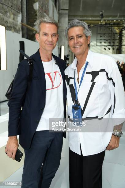 Alexander Werz and Carlos Souza attend the Valentino Menswear Spring Summer 2020 show as part of Paris Fashion Week on June 19 2019 in Paris France
