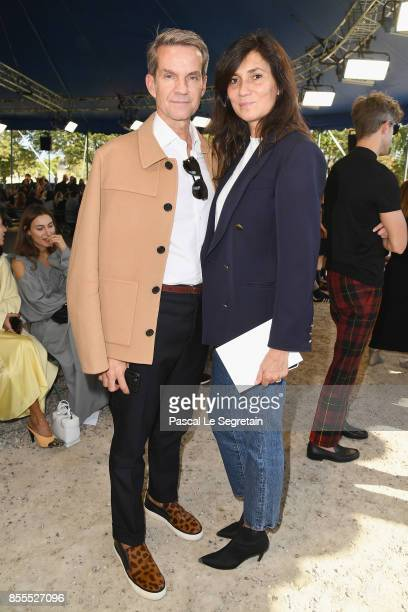 Alexander Werz and Emmanuelle Alt attend the Nina Ricci show as part of the Paris Fashion Week Womenswear Spring/Summer 2018 on September 29 2017 in...