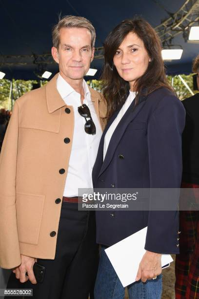 Alexander Werz and Emmanuelle Alt attends the Nina Ricci show as part of the Paris Fashion Week Womenswear Spring/Summer 2018 on September 29 2017 in...