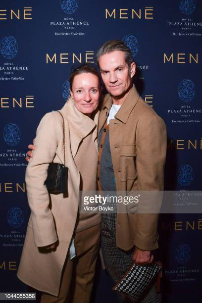 Alexander Werz and guest attend the Mene Cocktail as part of the Paris Fashion Week Womenswear Spring/Summer 2019 at Hotel Plaza Athenee on September...
