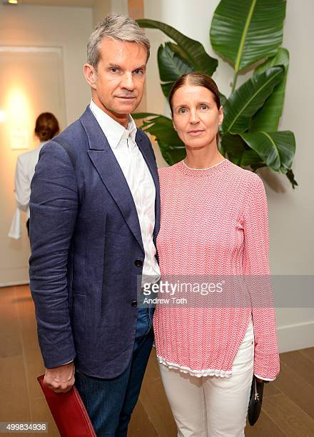 Alexander Werz and Karlo Otto attend the Maiyet Toni Garrn Celebration of Plan International at L'Eden by PerrierJouet at Penthouse at the Faena...