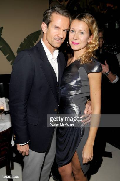 "Alexander Werz and Natalie Joos attend VLADIMIR RESTOIN ROITFELD RVCA Present NICOLAS POL's 'The Martus Maw"" at 80 Essex St on November 09 2009 in..."