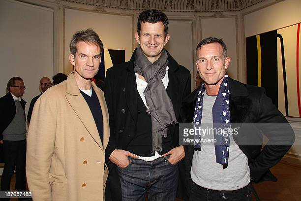 Alexander Werz and Steve Hasker attend the Clare Rojas Artist Reception presented by Vladimir Restoin Roitfeld on November 9 2013 in New York City