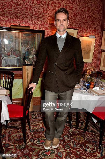 Alexander Werz attends mytheresacom x Francesco Russo dinner at Harrys Bar on April 8 2015 in London England