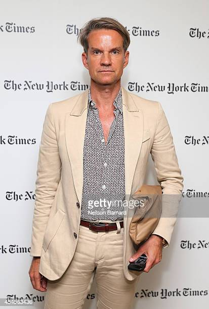 Alexander Werz attends the New York Times Vanessa Friedman and Alexandra Jacobs welcome party on September 3 2014 in New York City