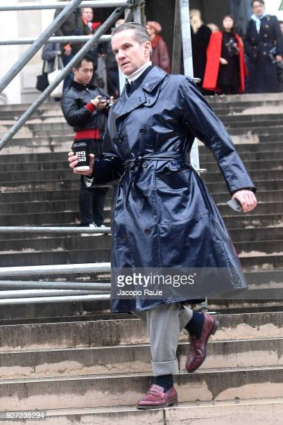 Alexander Werz is seen arriving at Givenchy fashion show during Paris Fashion Week Womenswear Fall/Winter 2018/2019 on March 4 2018 in Paris France