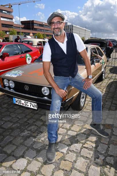 Alexander Wesselsky attends the Start of the Auto Bild HamburgBerlin Klassik Rallye 'Die Nordsee Tour' at Schuppen Eins on September 13 2018 in...