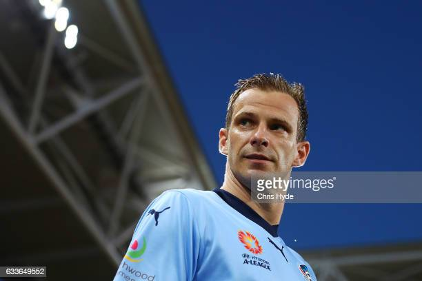 Alexander Wilkinson of Sydney FC walks out for the round 18 ALeague match between the Brisbane Roar and Sydney FC at Suncorp Stadium on February 3...
