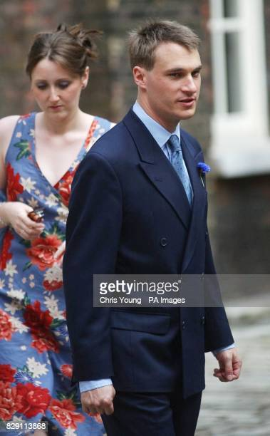 Alexander WindsorThe Earl of Ulster arrives for the wedding of his sister Lady Davina Windsor and Gary Lewis outside the chapel at Kensington Palace...