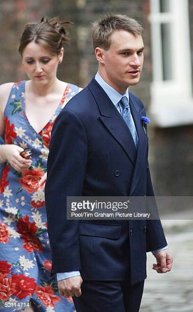 Alexander Windsorthe Earl Of Ulster With His Wife Claire Arrives For The Wedding Of His Sister Lady Davina Windsor At Kensington Palace