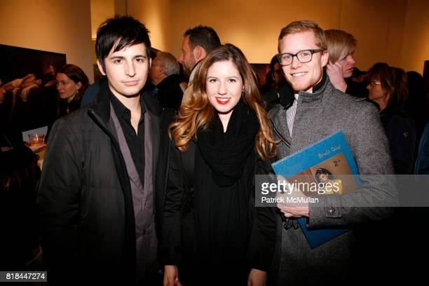 Alexander Wolf Victoria Stevens and Braden Summers attend ERWIN OLAF Opening Reception at Hasted Hunt Kraeutler on January 28 2010 in New York